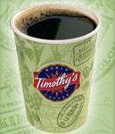 free timothy's coffee