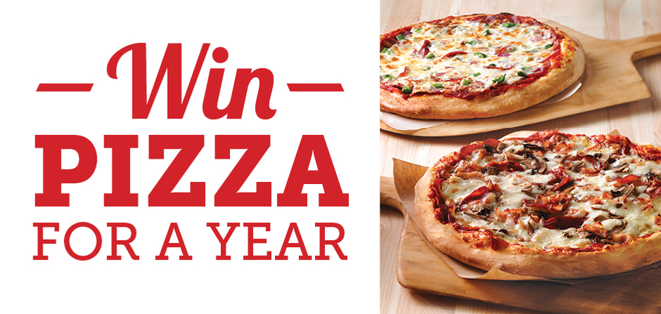 FREE PIZZA FOR A YEAR!