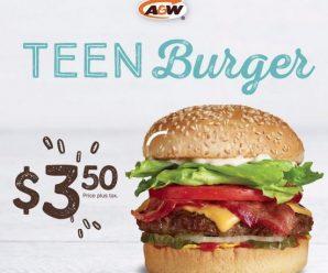 A&W Teen Burger